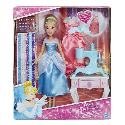 Hasbro Disney Princess Cinderellas Clothes Designer Dolls Playset
