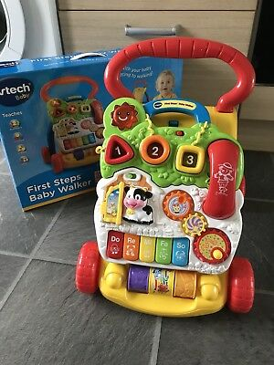 Vtech First Steps Baby Walker In Original Box With Instruction