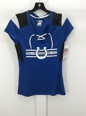 INDIANAPOLIS COLTS - Ladies Blue Short Sleeve Jersey Vneck Shirt - 100%  Poly-NEW b2537cbf6