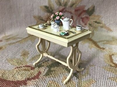 Puppenstuben & -häuser Bluette Meloney Dollhouse Miniatures Signed Table Stand Dressed With Food 291