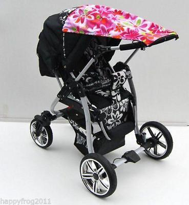 CANOPY FOR PRAM BUGGY SUN and RAIN protection Thick Impassable Certified UV