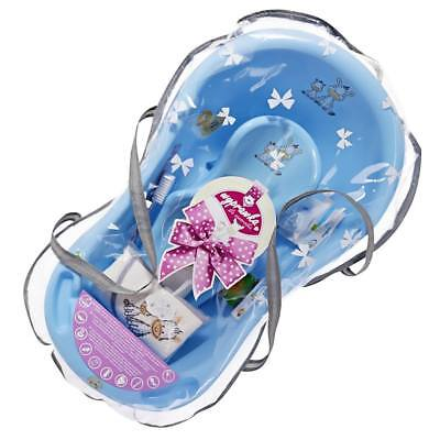 Large Baby Bathing Set, Newborn Baby Bath Shower Gift Blue