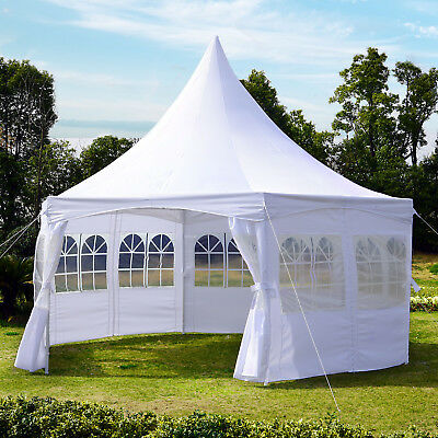 Summer Clearance Deluxe Wedding Canopy Pagoda Party Tent Garden White