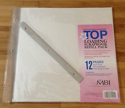 12x12 Mbi Refill Page Scrapbooking Album Refills Pages Top Loading