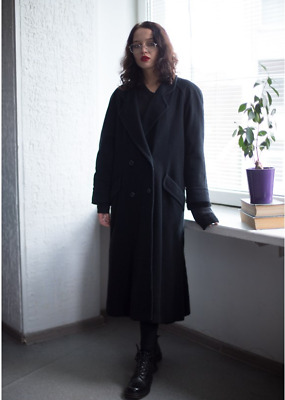 Vintage 60's Black Double Breasted Coat