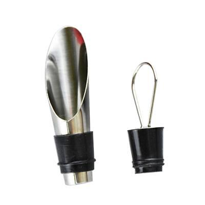 Kitchen Bar Stainless Steel Wine Pourer Pouring Spout With Bottle Stopper