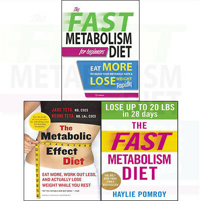 Fast Metabolism Diet Lose More Weight Metabolic Effect 3 Books Collection Set