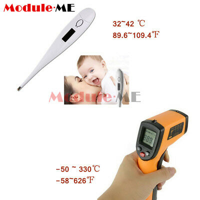 Non-Contact LCD IR Infrared Laser Temperature Gun/Bady Thermometer GM320 UK
