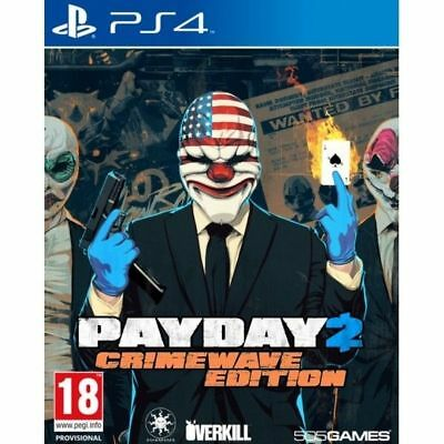 Payday 2 Crimewave Edition PS4 Playstation 4 Game Brand New In Stock Brisbane