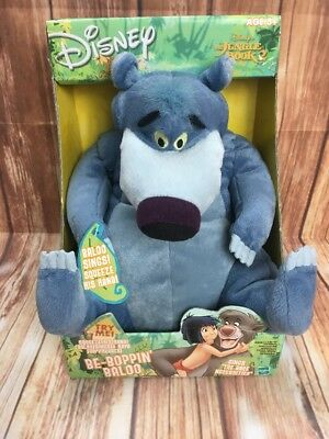 New Disney Jungle Book Be-boppin' Singing Baloo the Bear Disney Plush Hasbro