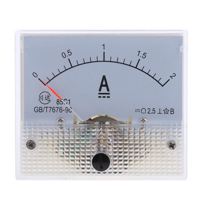 DC 2A Analog Ammeter Panel AMP Current Meter 0-2A Amp Meter 85C1 Class 2.5
