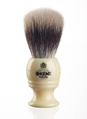 Kent Infinity INF1 Shaving Brush - Fibre Synthetic Bristle - Vegan Friendly!