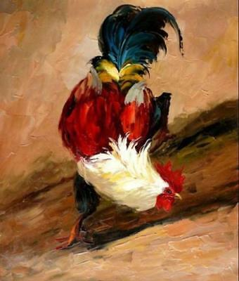 LMOP85 100% hand painted MODERN OIL PAINTING on CANVAS wall ART:ROOSTER