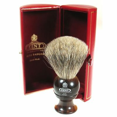 Kent H4 Shaving Brush Pure Badger Bristle Horn Handle Small Size - GIFT BOXED
