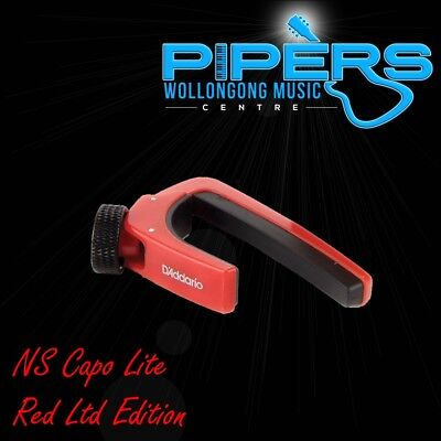 D'Addario NS Capo Lite CP-07R Red Limited Edition Planet Waves Guitar Capo
