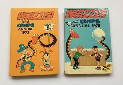 WHIZZER & CHIPS Annuals from 1972 & 1975 - FREE Postage & Packing!