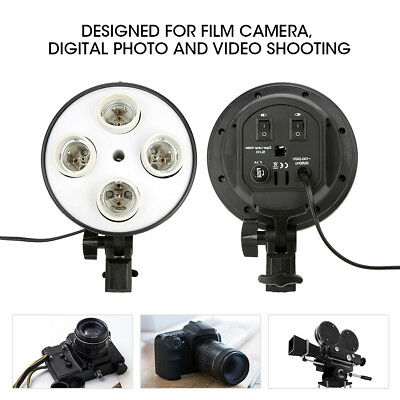 Vidéo Photo Studio Support d'ampoule Lampe Bulb Holder E27 4 Socket Céramique
