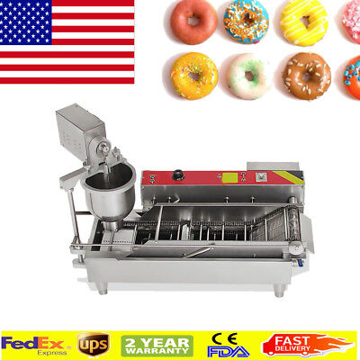 USA Big Commercial Electric Auto Donut Maker Making Machine Free 3Optional Mold