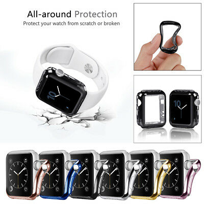 Plating Ultra-Slim Protected Case Cover For Apple Smart Watch Series 2/3 Sport