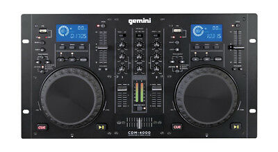Gemini CDM-4000 - All-In-One Dual CD & USB MP3 Player DJ Decks
