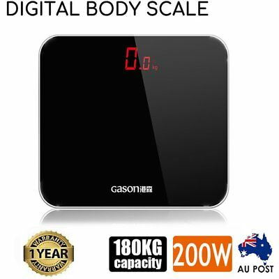 Electronic Digital LED Display Bathroom Scales Body Weight Management 180KG AU