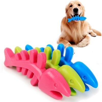 For Dog Toy Play Funny Pet Puppy Chew Rubber Dental Teeth Chew Bone Play Toys