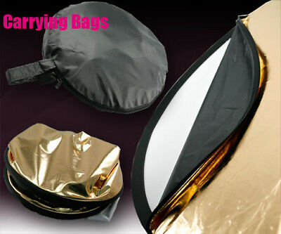 """42"""" Multi-DIS 110CM 5 IN 1 Camera Studio Collapsible Light Reflector + Bag DT"""