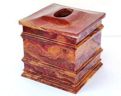 Luxury Bathroom Accessories Multi Onyx Tissue Box Cover of Bengal Collection