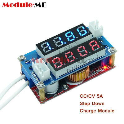 CC/CV Adjustable Step Down Charge LED Panel Voltmeter Ammeter Display Module 5A