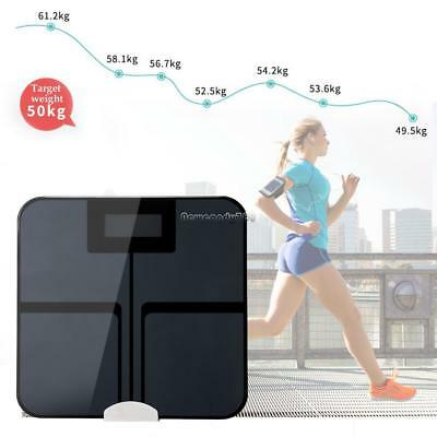 Bluetooth Smart Scale Body Fat Scale LED Digital 4.3'' 8 Health Index Statistics