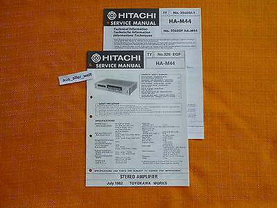 SERVICE MANUAL HITACHI HA M44 english deutsch français Anleitung ...