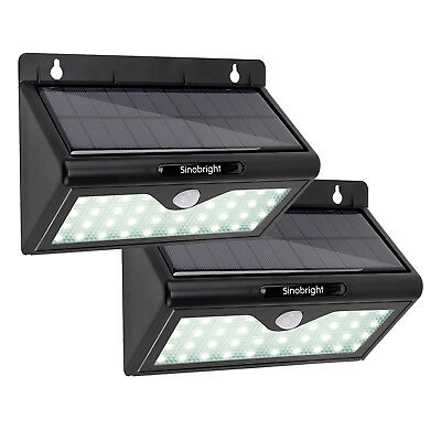 46 LED Solar Motion Sensor Wall Light Outdoor Waterproof Garden Lamp Dim light