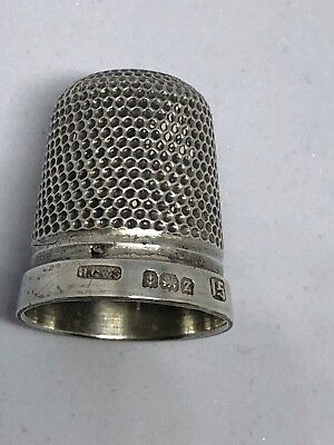 Sterling Silver Thimble - H. G. & S. NO 15 - Birmingham - 1924.