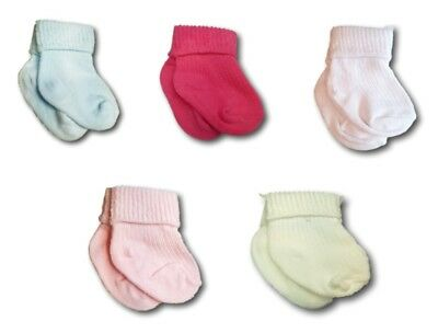 Infant Baby Toddler Girls Boys Unisex Cotton Pressure Free Socks Size 0-9 Months