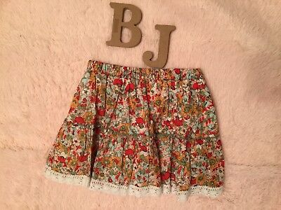 Stylebook Floral Mini Skirt Lace Multi Color Girls Size Small