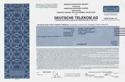 Deutsche Telekom 2006 Köln New York Bundespost ZDF AFN DSL ADR Historical Share