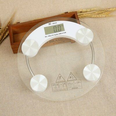 Digital Body Scale 180KG LCD Display Tempered Weight Scales Bathroom Gym MG