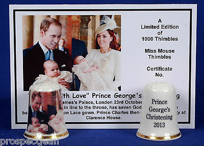 To Sir With Love Prince George TAUFE 2013 LTD.ED Kabelschuh + Cert- B/123