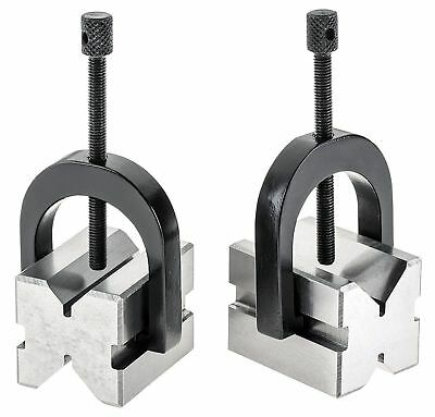 """A ONE PRECISION 'V' BLOCK SET 2-3/4 x 1-3/4 x 1-5/8"""" V Block clamp double sided"""