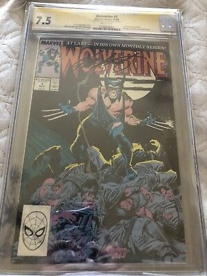 SIGNED Chris Claremont WOLVERINE # 1 CGC 7.5 SS 1988 movie uncanny x-men