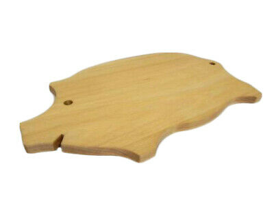 Big Professional Pork Chopping Board Solid Wood shape of a pig 40 cm 16 inches