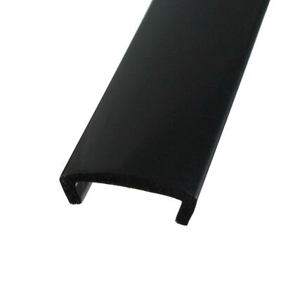"20ft 6m Length 3/4"" 19mm Width black Plastic U-Molding for Arcade game cabinets"