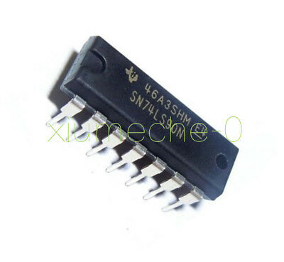 5 Pcs 74LS90 SN74LS90N IC Decade Divide-by-12 and Binary Counter DIP14