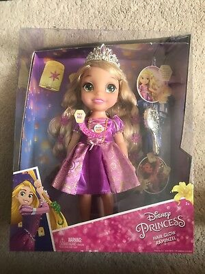 Disney Princess Hair Glow Rapunzel Doll Sings Light Up Tangled Song Brand New