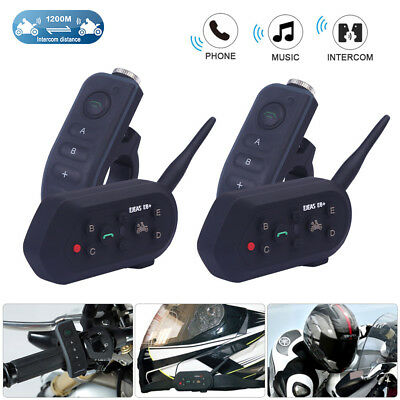 2x1200m motorrad bluetooth gegensprechanlage intercom. Black Bedroom Furniture Sets. Home Design Ideas