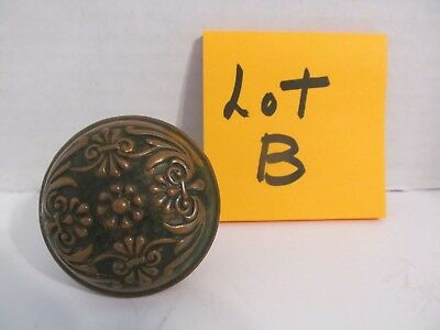 Vtg Ornate Floral Brass Door Knob   (Lot B)
