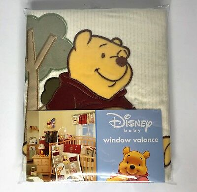 "DISNEY BABY Winnie The Pooh Window Valance 58"" x 12"" *NEVER OPENED*"