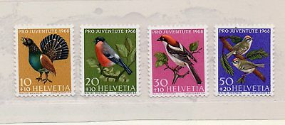 Suiza Pro Juventud Fauna Aves Serie año 1968 (DR-610)