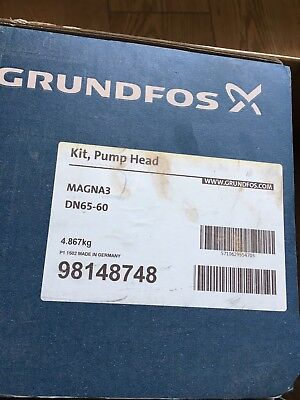 Brand New Genuine Grundfos Magna3 Dn65 -60  Pump Head Kit 98148748