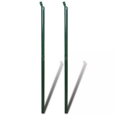 Garden Mesh Fence Post Fence Strive 2 pcs 175cm Iron Outdoor Wire Strive Q4O7